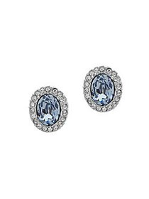 Givenchy Crystal-Embellished Stud Earrings SILVER