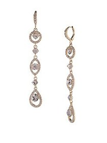 Givenchy Crystal Drop Earrings GOLD