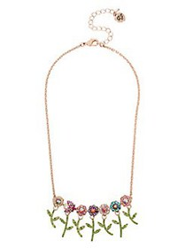 Betsey Johnson Fruit Flies Colorful Crystal Flower