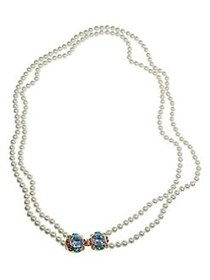 Kenneth Jay Lane 5MM Pearl-Embellished Two-Row Nec