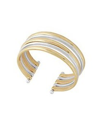 Lucky Brand Ethereal Coasts Cuff Bracelet TWO TONE