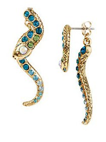 Betsey Johnson Ocean Drive Pave Crystal Snake Fron