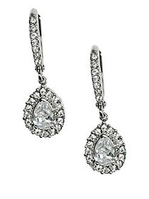 Givenchy Silvertone Crystal Drop Earrings CRYSTAL