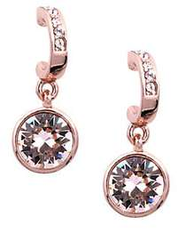 Givenchy Rose Gold and Swarovski Crystal Drop Earr