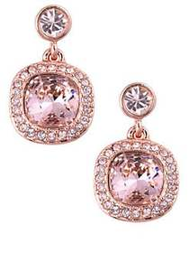 Givenchy Cushion Drop Earrings ROSE GOLD