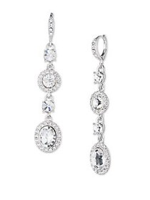 Givenchy Crystal Studded Drop Earrings SILVER