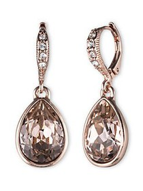Givenchy Glass Stone Drop Earrings ROSE GOLD