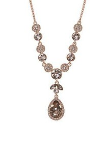 Givenchy Rose Goldtone Crystal Y-Shaped Necklace R