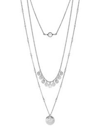 Lucky Brand Three-Chain Necklace SILVER