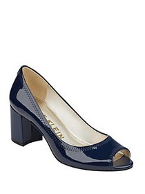 Anne Klein Meredith Peep Toe Pumps NAVY