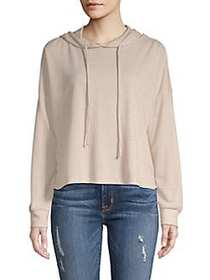Tresics Luxe Textured High-Low Hoodie BEIGE WHISPE