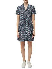 French Connection Eden Ditsy Floral Crepe Shirtdre