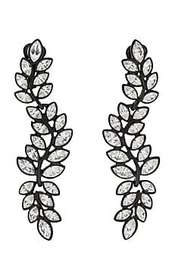Kenneth Jay Lane Leaf-Shaped Triple-Drop Earrings