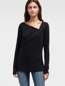 Donna Karan DRAPED ASYMMETRICAL TOP
