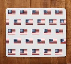 Pottery Barn All Over American Flag Cork Mat
