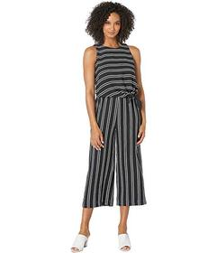 Tahari by ASL Twin Stripe Pop Over Tie Front Jumps