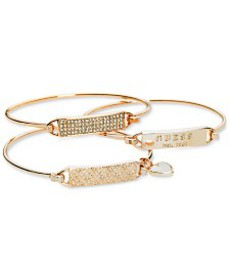 GUESS Rose Gold-Tone 3-Pc. Set Plate and Wire Bang
