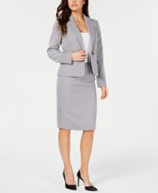 Le Suit One-Button Skirt Suit