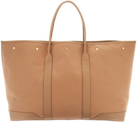 """As Is"" Martha Stewart Large Canvas Tote with Leat"