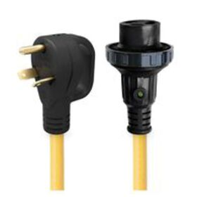 30' 30 Amp Detachable Power Cord with Handle & Ind