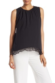 French Connection Solid Tie Side Tank Top