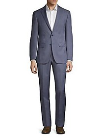 Calvin Klein Slim-Fit Wool Blend Suit LIGHT BLUE