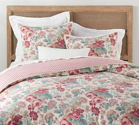 Pottery Barn Elia Floral Reversible Duvet Cover &