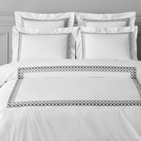 Chain Link Embroidered Duvet Cover & Shams