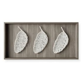 Porcelain Perforated Leaf Wall Sculpture, Multiple
