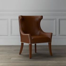 Regency Leather Occasional Chair