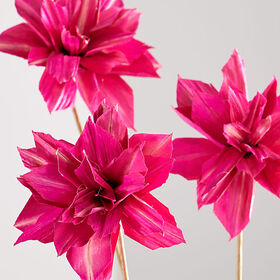 Crate Barrel New Artificial Pink Dahlia Flowers, S
