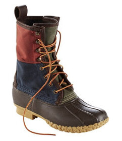 LL Bean Signature Retro Colorblock Waxed-Canvas Be