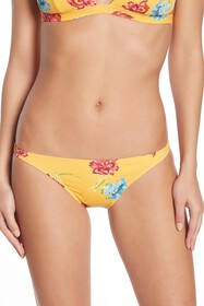 Onia Ashley Floral Print Ribbed Hipster Bottoms