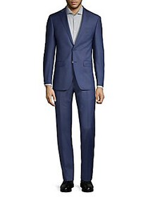 Calvin Klein Solid-Tone Stretch Suit BLUE