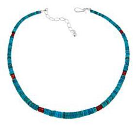 Jay King Seven Peaks Turquoise and Red Coral Heish