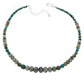 Jay King Graduated Labradorite and Turquoise Bead