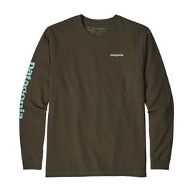 M's Long-Sleeved Text Logo Cotton/Poly Responsibil