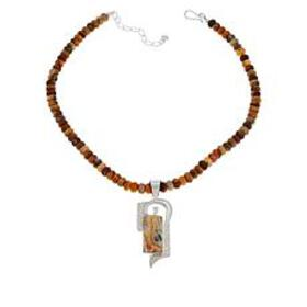 Jay King Multi-Color Crazy Lace Agate Pendant with