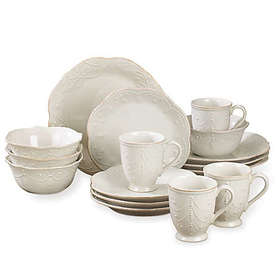 Lenox® French Perle 16-Piece Dinnerware Set in Whi