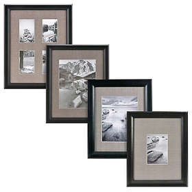 Real Simple® Deep Black Wood Wall Frame with Grey