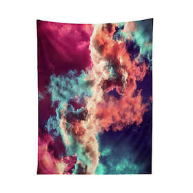 Deny Designs Yin Yang Painted Clouds 60-Inch x 80-