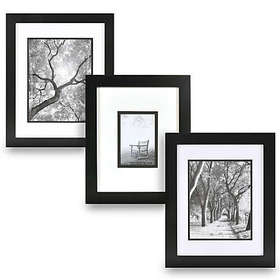 Real Simple® Black Wood Wall Frame with White Over
