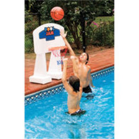 Swimline PoolJam Poolside Basketball Hoop, Ingroun