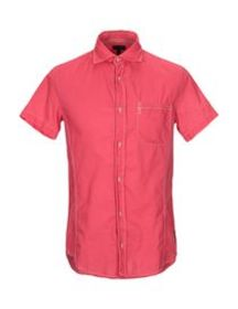 ARMANI JEANS - Solid color shirt