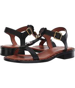COACH Tea Rose T Strap Sandal - Leather