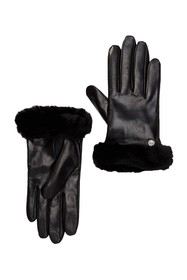 UGG Genuine Dyed Shearling Trimmed Leather Gloves