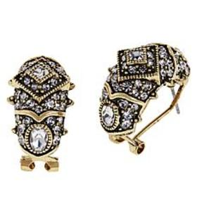 "Heidi Daus ""Old School Jewels"" Crystal Hoop Earrin"