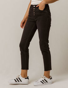 IVY & MAIN Exposed Button Womens Mom Jeans_