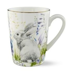 Floral Meadow Mugs, Set of 4, Bunny
