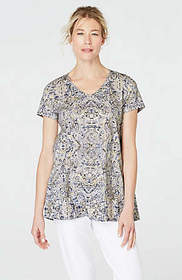 Pure Jill Pima Elliptical Tee